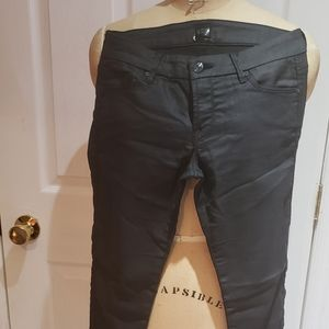 MARCIANO Coated black jeans